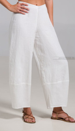 Trousers Bulle in white linen Trousers