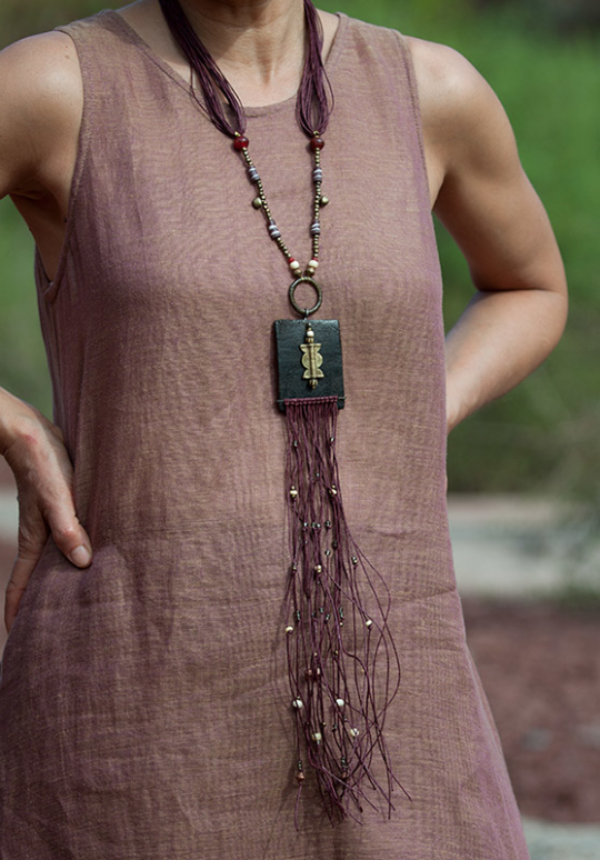 Statement jewel: colorful ethnic beads and leather Jewellery