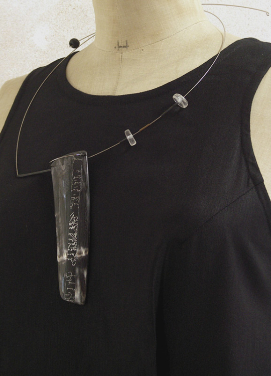 Contemporary horn necklace Jewellery