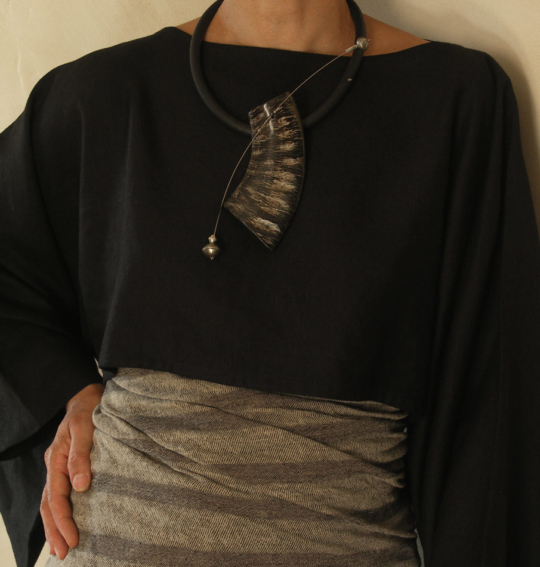 Contemporary polish horn necklace Jewellery
