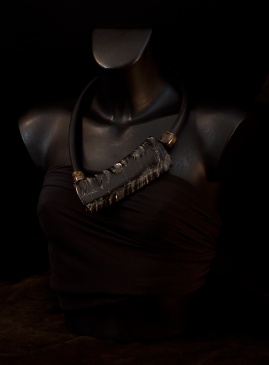 Contemporary asymmetrical buffalo horn necklace Jewellery