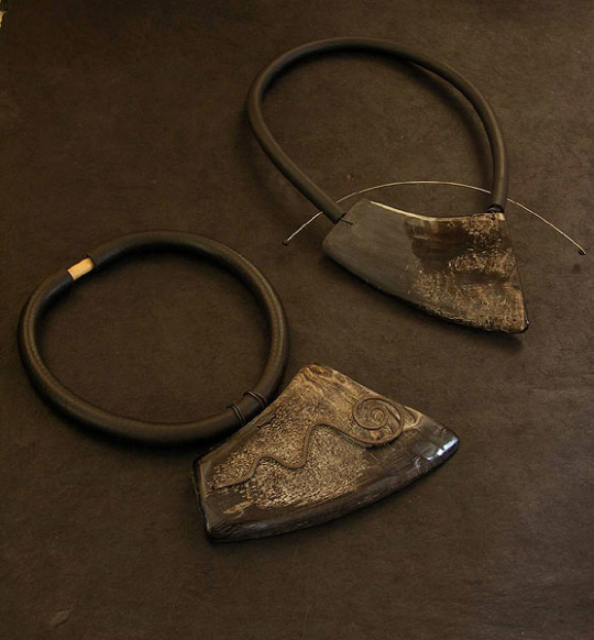 contemporary buffalo horn necklace Jewellery