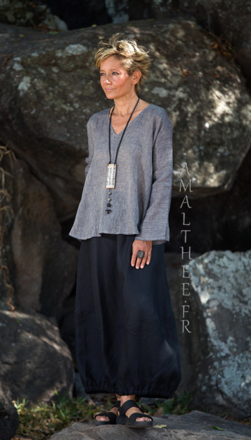 Black and grey linen outfit :the classic touch of urban elegance. Looks