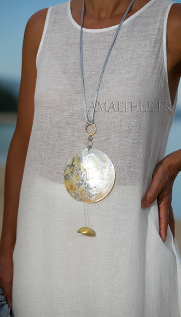 Mother of pearl contemporary pendant Jewellery
