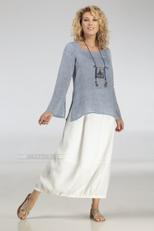 Off white linen Zoe skirt bargain corner
