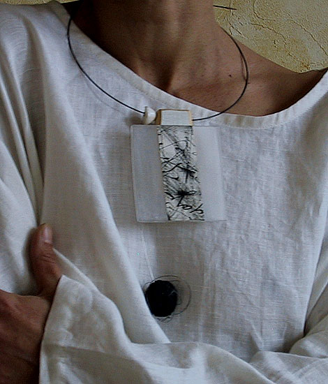 recycled wooden pendant Jewellery