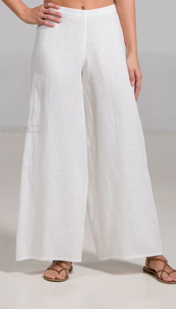 Off white linen Baba trousers Trousers