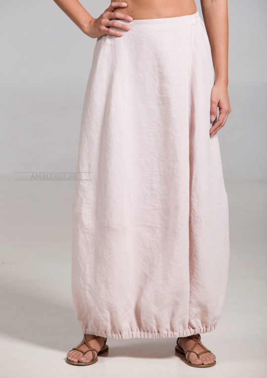 Light pink linen Zoe skirt bargain corner