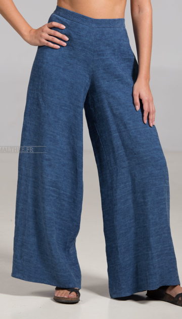 Indigo Linen Baba trousers Trousers