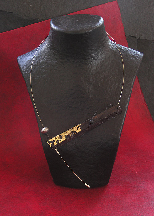 CONTEMPORARY ASYMMETRICAL  EBONY necklace Jewellery