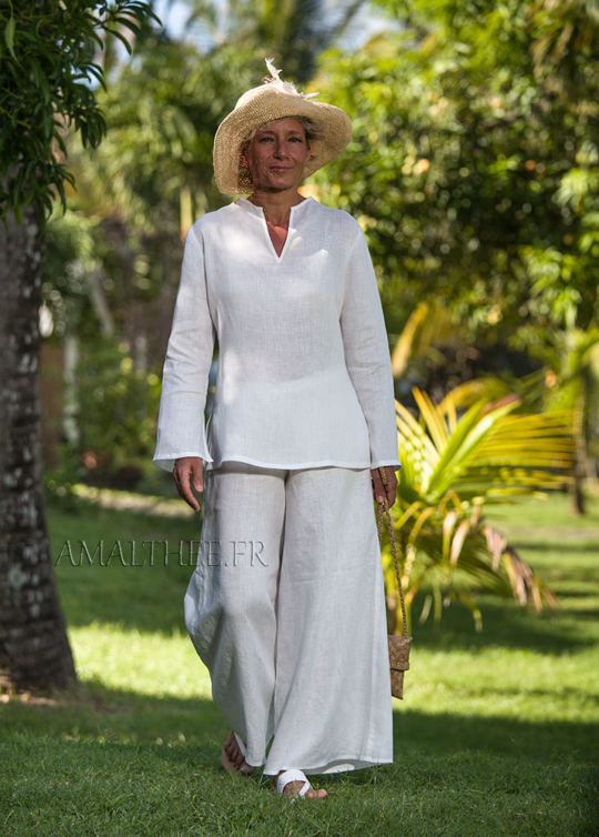 White linen tropical wedding outfit Looks Spring summer