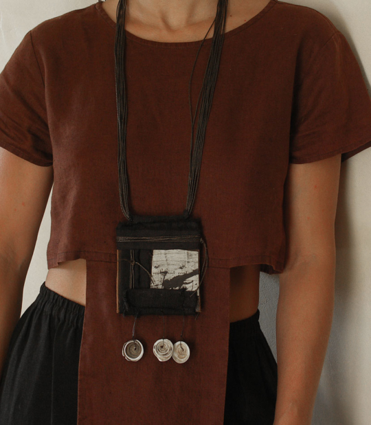 Tribal ethnic style jewelry with old shells and leather Jewellery
