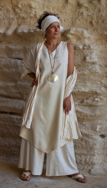 shantung silk outfit tunic Looks