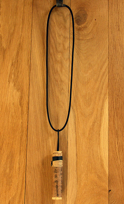 Pendant necklace: bamboo necklace with calligraphy Jewellery