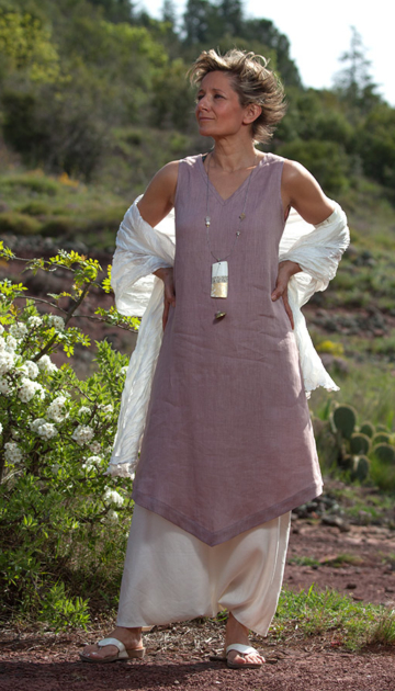 linen tunic lilac color bargain corner