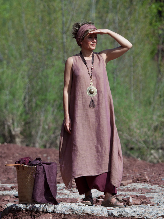 Ethnic chic: Rosewood linen gauze tunic Looks Spring summer
